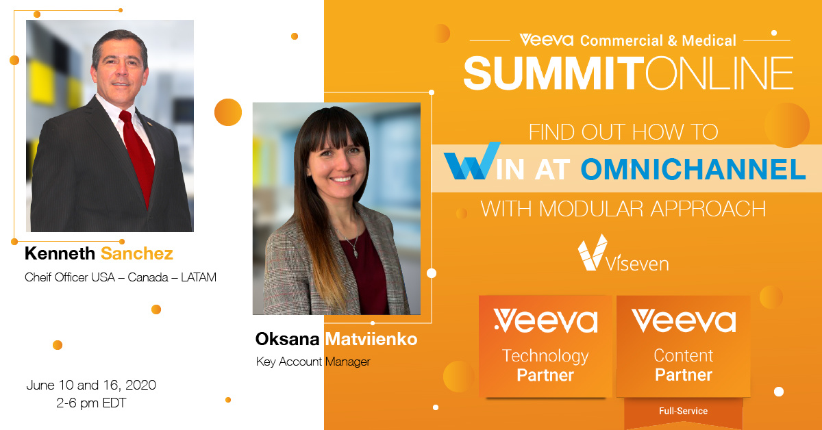 Viseven will present the Modular approach at Veeva Commercial and Medical Summit online