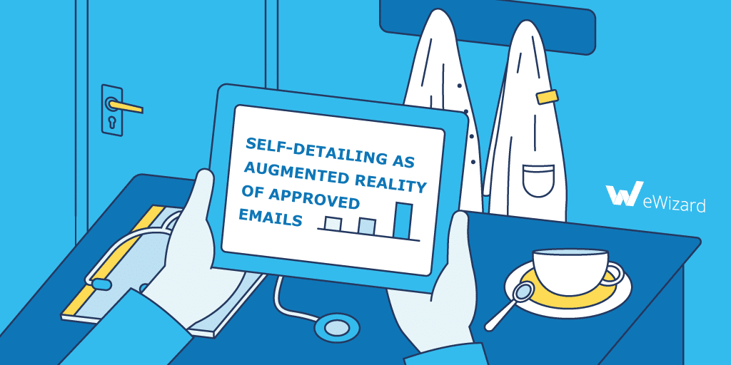Self-detailing as the Augmented Reality of Approved Email