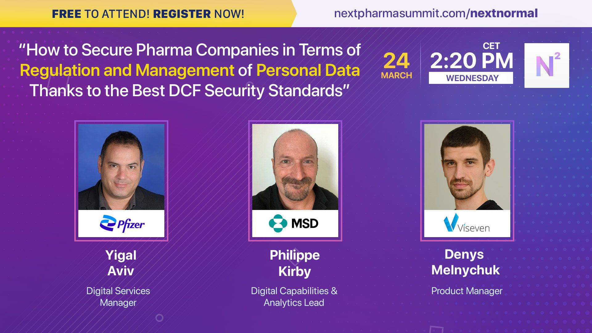 NEXT Normal Week: Secure Pharma Companies in Terms of Regulation and Management of Personal Data Thanks to the Best DCF Security Standards