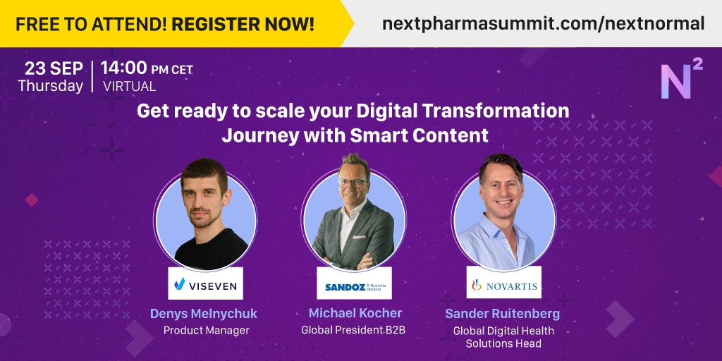 NEXT Pharma Summit: Get ready to scale your Digital Transformation Journey with Smart Content